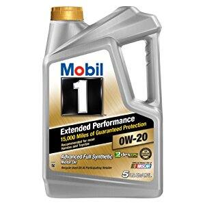 Mobil 1 Extended Performance 0W-20 Motor Oil - 5 Quart - $25.47 Amazon