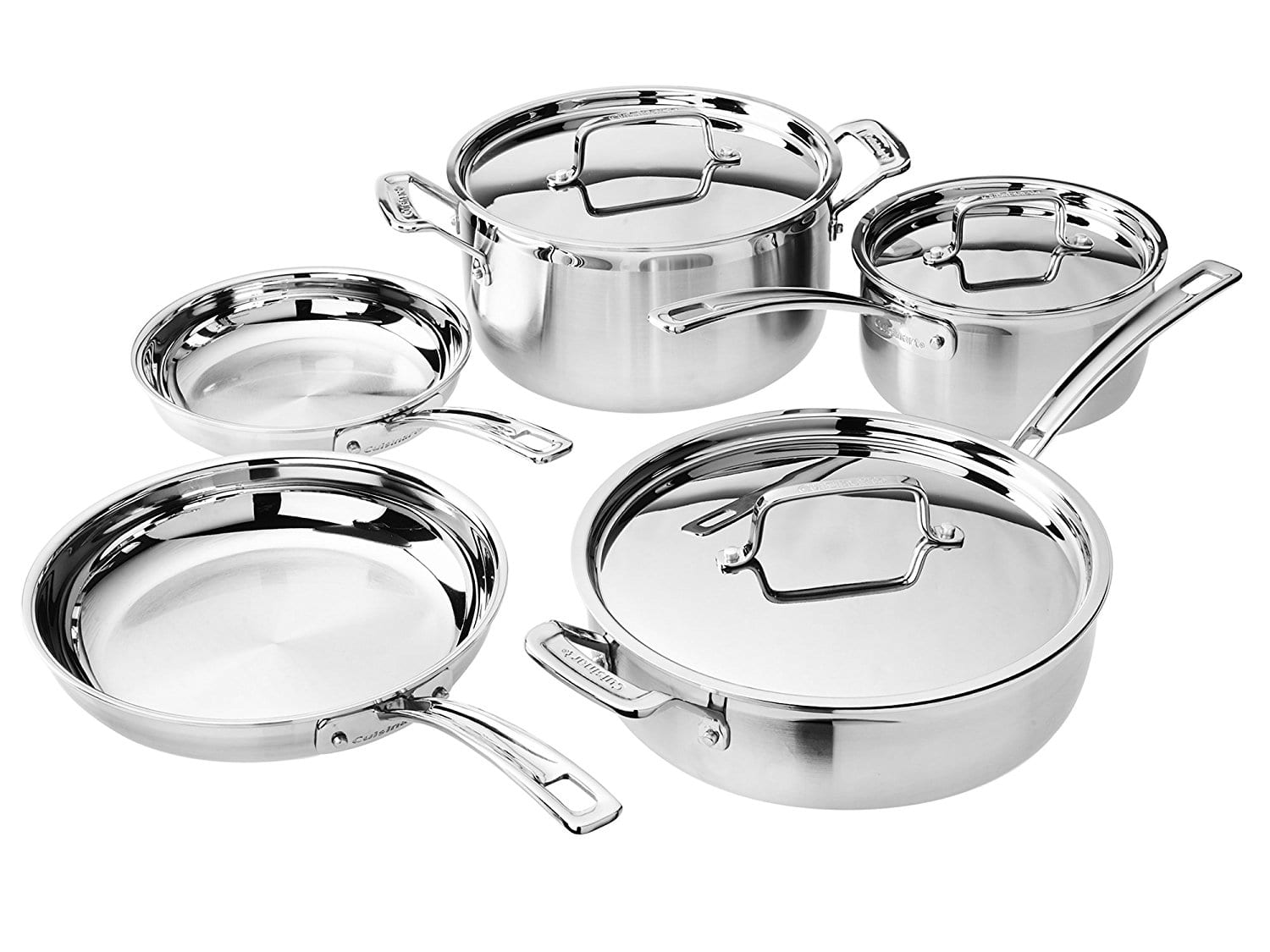 Cuisinart MCP-8NW MultiClad Pro Set (8-Piece) Cookware $139.99  -  Amazon