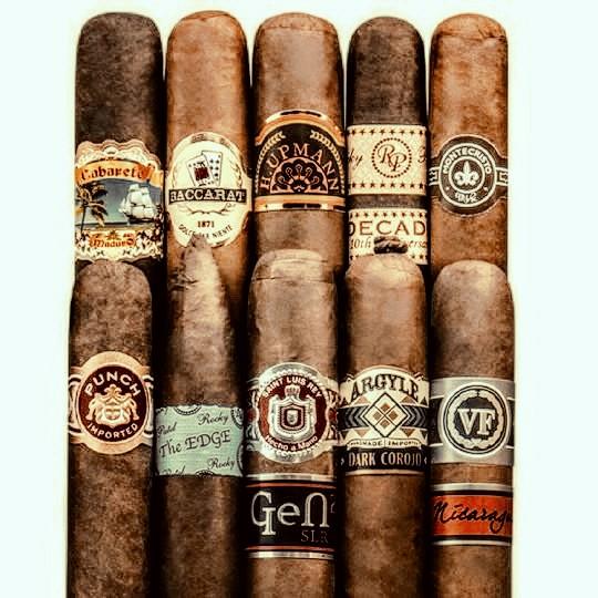 10 Premium Cigar Sampler - $20 shipped - (add an Artisan Hamilton Humidor for $15 more)