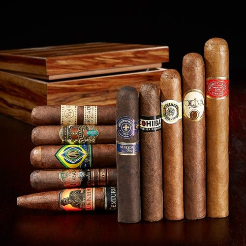 10 Quality Cigars + Bass Wood Humidor $29.99 (free shipping)