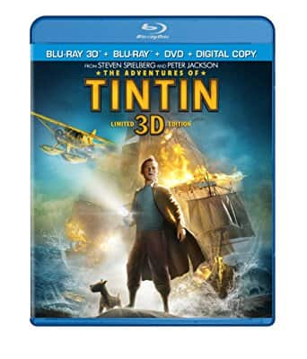 $9.99 + FS - The Adventures of Tintin (Blu-ray 3D + Blu-ray + DVD + Digital HD)