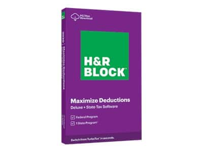 H&R Block 2020 Tax Software: Business $35, Premium $26 or Deluxe + State $17