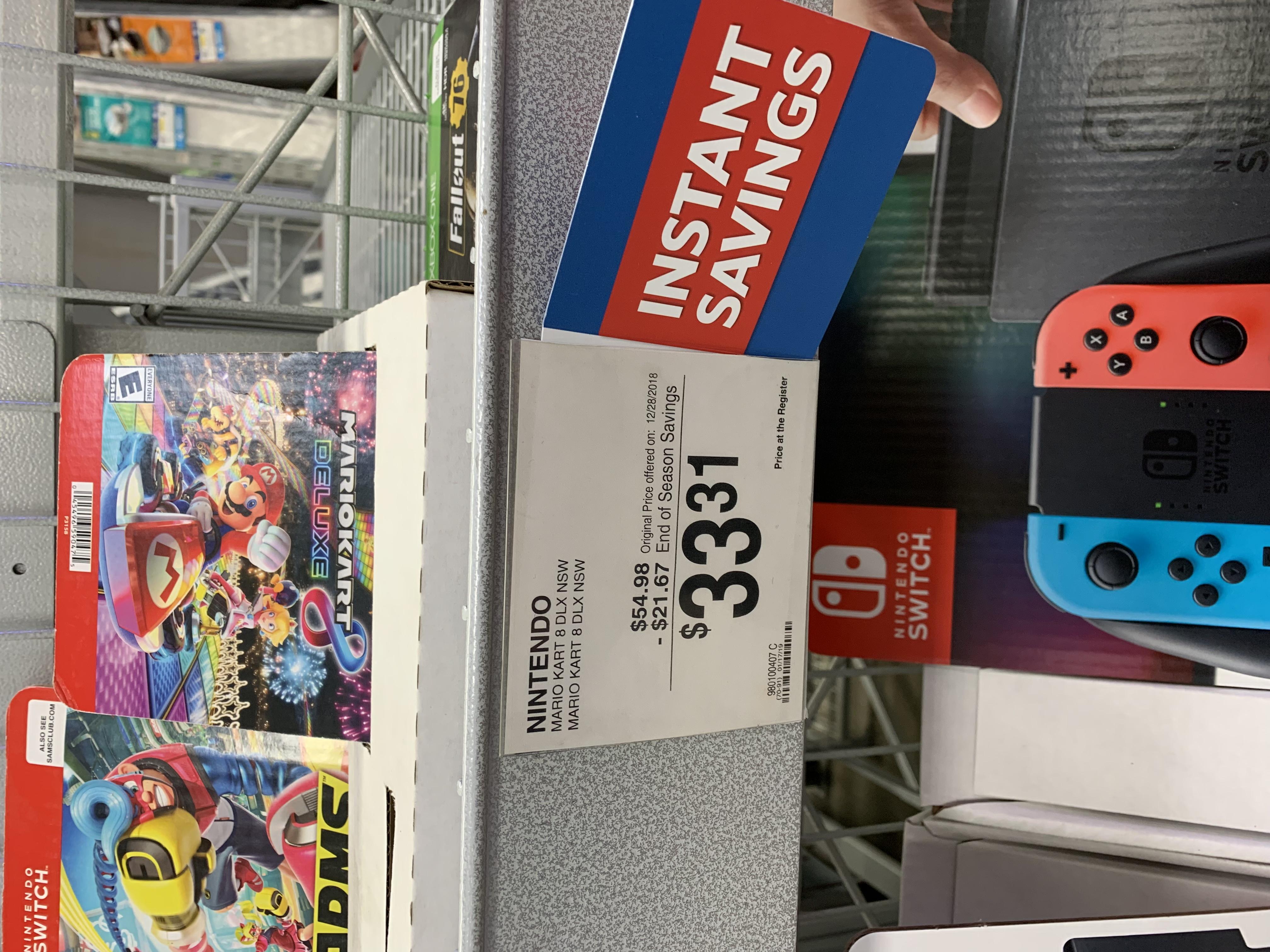 aaacf3a185 Nintendo Switch Mario Kart 8 Deluxe Sam s Club B M YMMV  33.31 -  Slickdeals.net