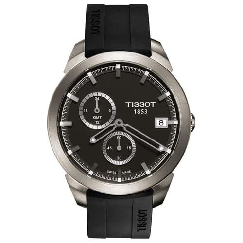 TISSOT Titanium GMT Black Dial Men's Watch T0694394706100 / 225$ / 70% OFF / JOMASHOP $225
