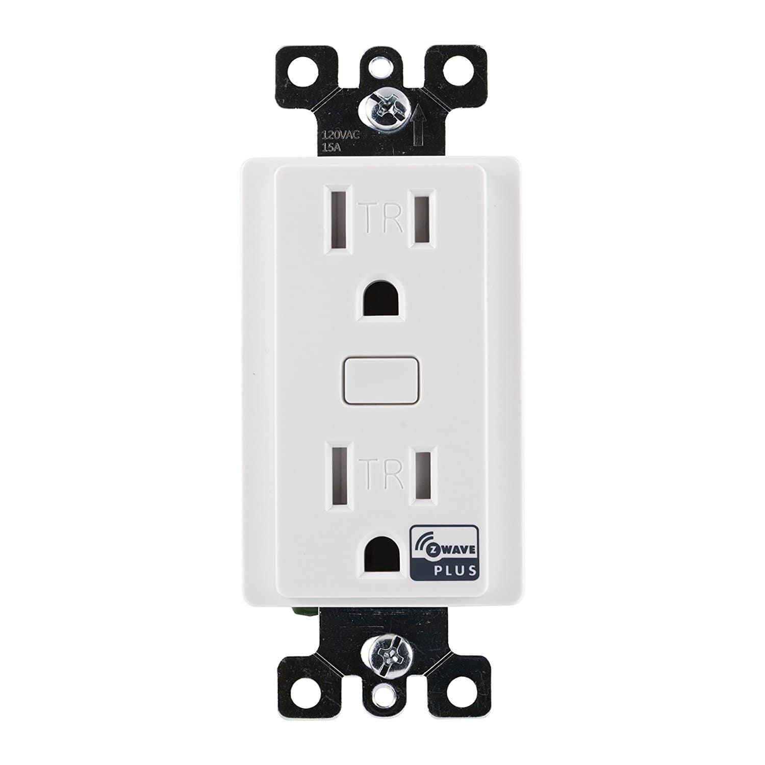 Amazon GE Z-Wave Plus Wireless Smart Lighting Control Duplex Receptacle Outlet, On/Off, In-Wall, White, Tamper Resistant, 14288 $29.99