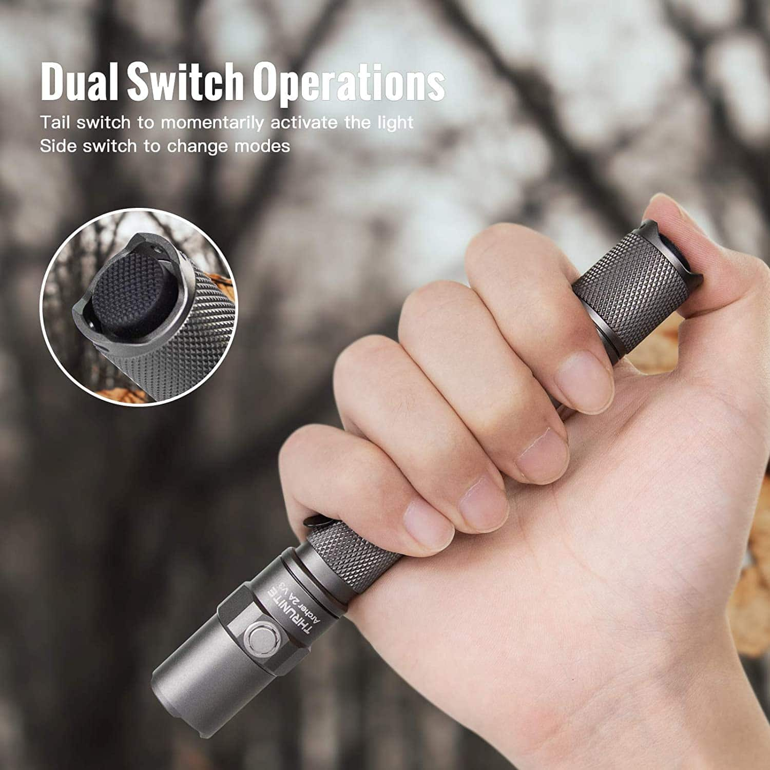 30% off Metal Grey ThruNite LED Flashlight Archer 2A V3 (500 Lumens AA Flashlight, IPX8 cool white) $25.19