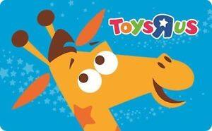 """$100 Toys""""R""""Us Gift Card for $90 - Email delivery (back in Stock)"""