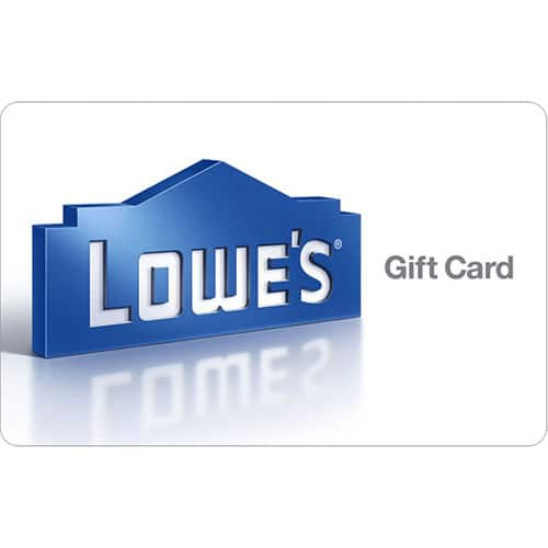 Get a $100 Lowe's Gift Card for only $92 - Email delivery