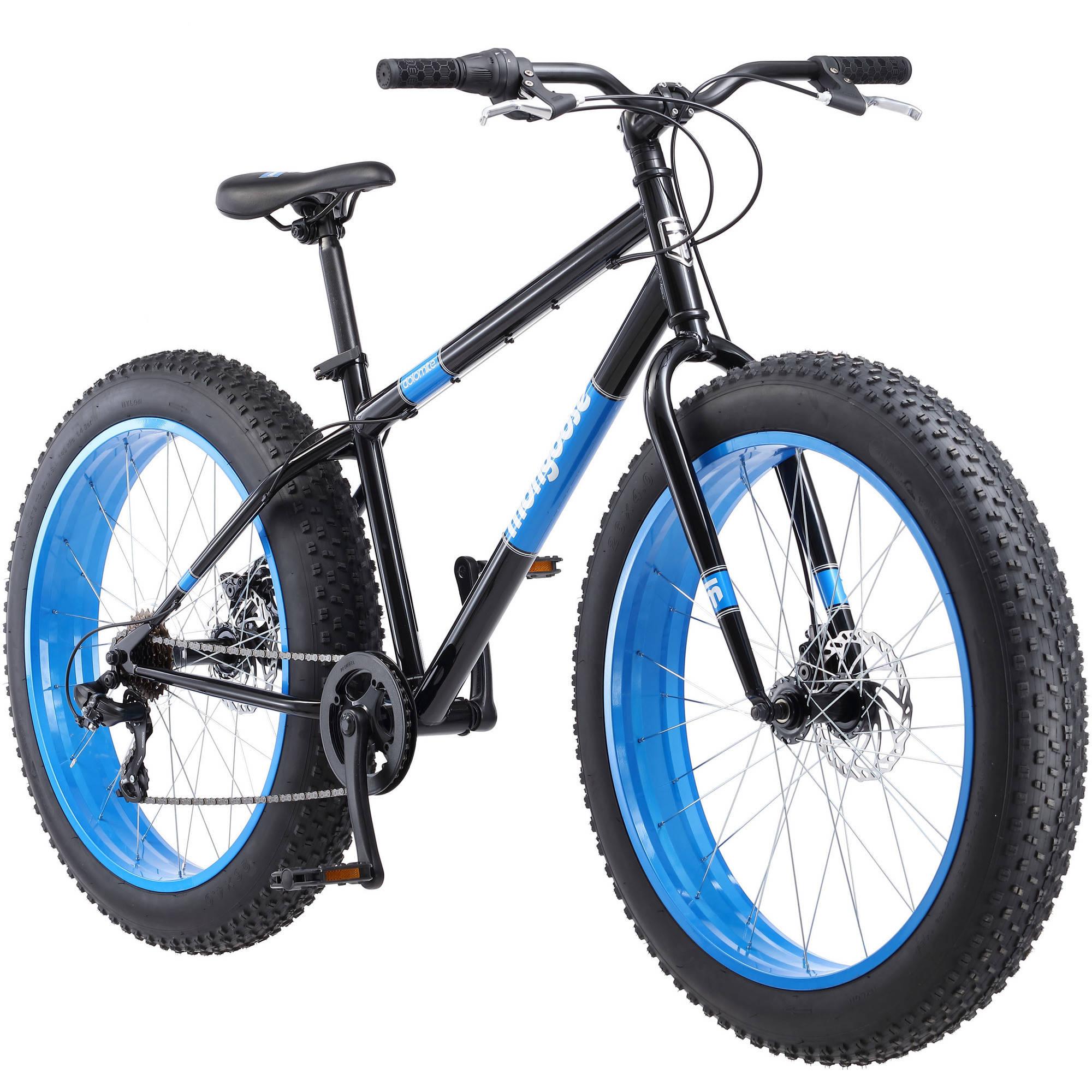 26 Mongoose Dolomite Men S Fat Tire Bike Black For 190 W Pick