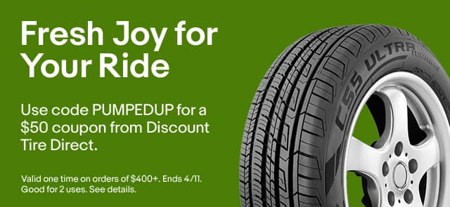 Get $50 off $400 from discount tires via ebay