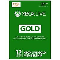 Amazon Deal: [Back In Stock] Xbox Live 12 Month Gold Membership [Online Game Code] $40 from amazon.com