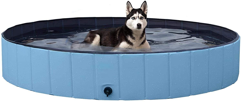 "Yaheetech 63"" Foldable Hard Plastic Large Dog Pet Bath Swimming Pool $47.49 + Free Shipping"