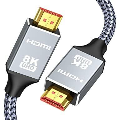 6.6ft Capshi 8K 60HZ HDMI Nylon Braided Cable - $4.49 + FS w/ Prime