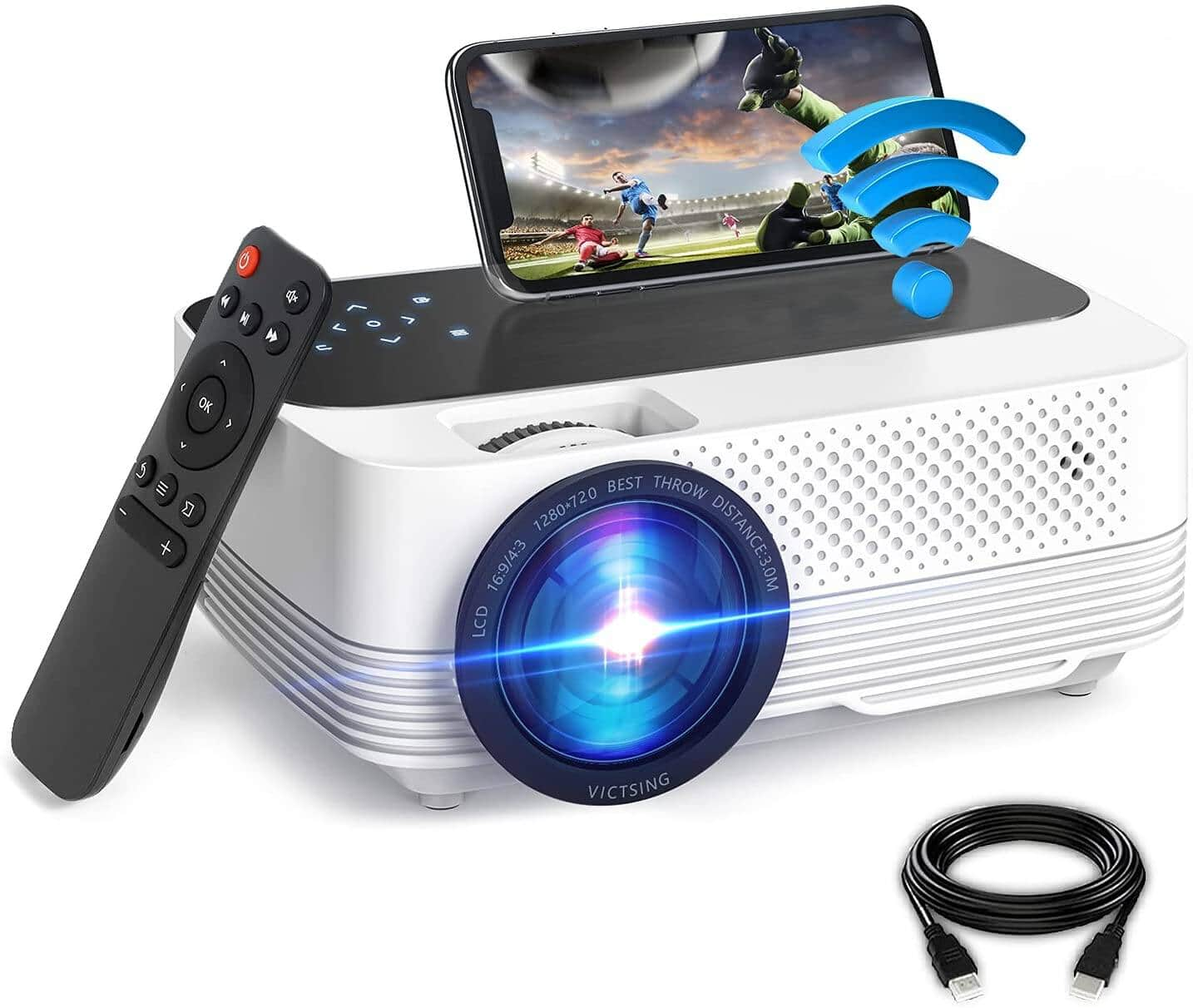 VicTsing 6000L WiFi Portable Home Theater Projector $68.39 + Free Shipping