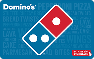 Buy a $25 Domino's Card get a Free $5 Domino's Gift Card