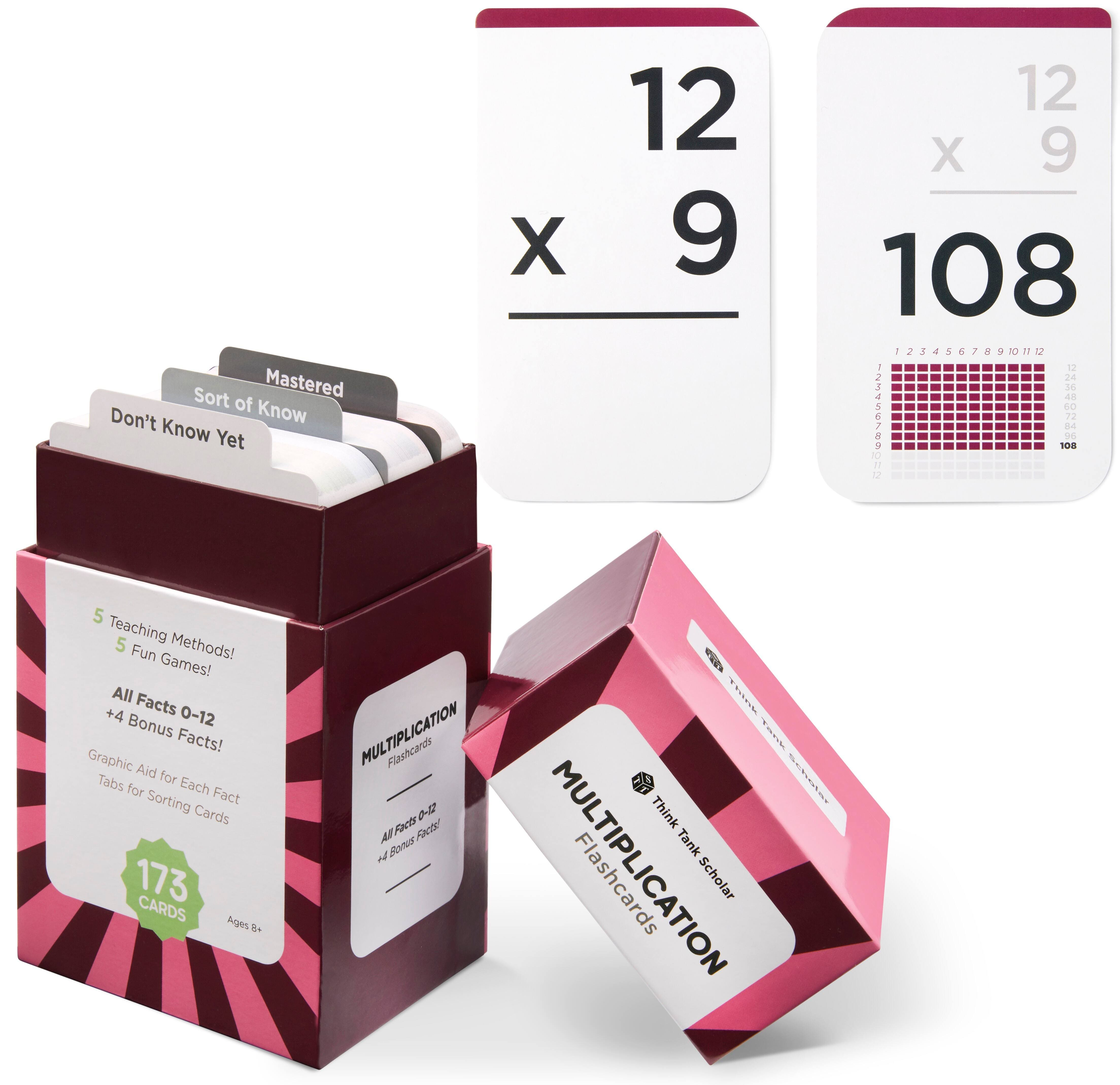 Think Tank Scholar Math Flash Cards for Kids (Stackable) $10.89 + Free Shipping w/ Prime or Orders $25+