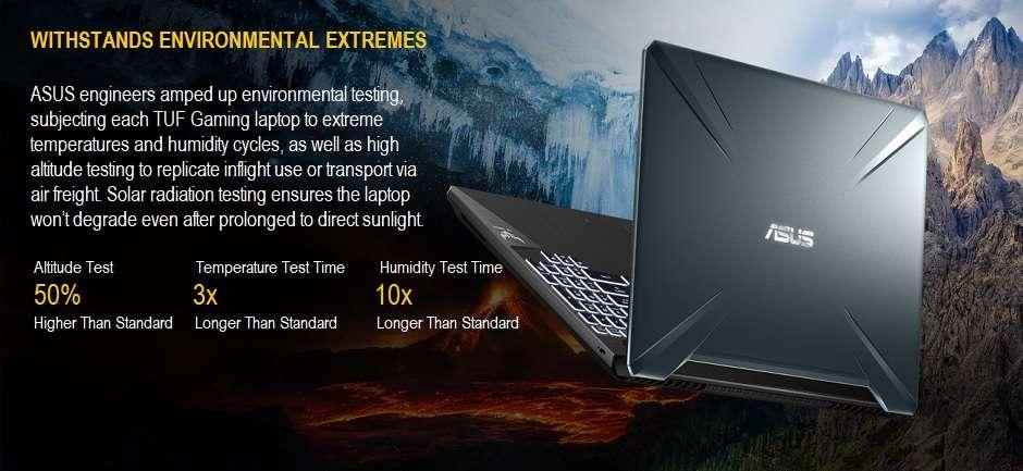 Asus TUF Gaming FX505GT Laptop - 9th Gen Intel Core i5 - GTX 1650 - 8GB RAM - 512GB SSD - $749.99 + Free Shipping