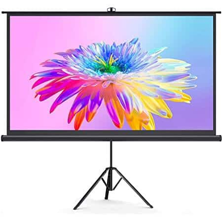 """BOMAKER 100"""" Projector Screen with Stand, 16:9, 1.2 Gain, 180° Viewing Angle, 3D, 4K UHD, HDR Ready, Tripod Stand/Wall Mounted - $65.99 + Free Shipping"""