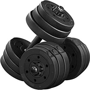 Yaheetech 44LB Adjustable Dumbbells Weight Set $37.99 + Free Shipping