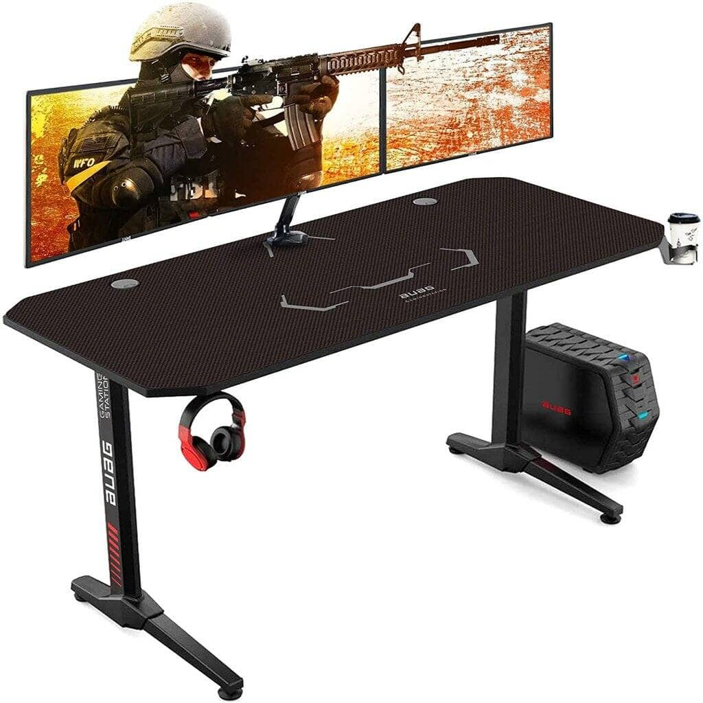 """Keeypon 55"""" Gaming Desk w/ Cup and Headphone Holder $75 + Free Shipping"""
