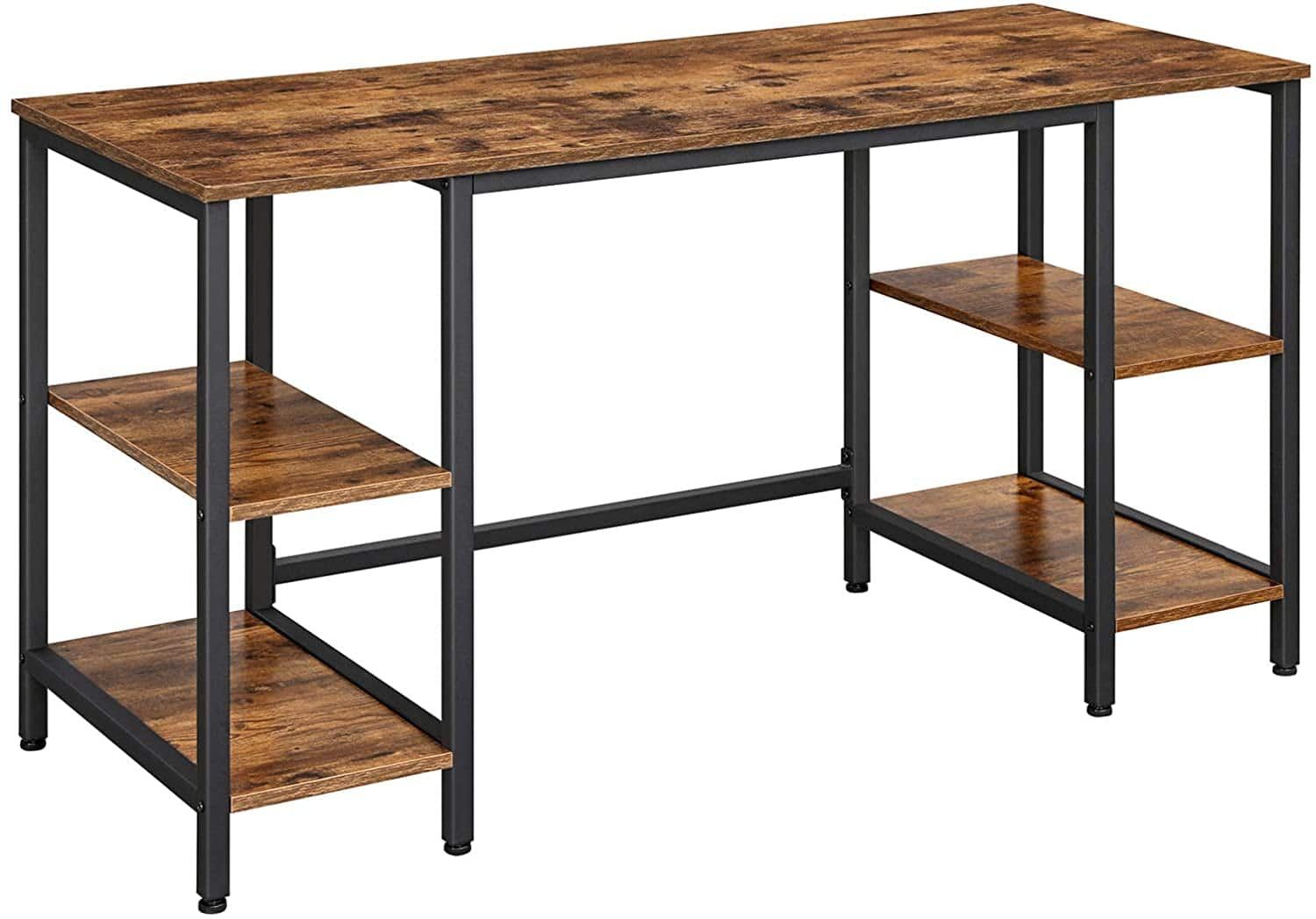 VASAGLE 58'' L-Shaped Desk for $53.99, 54'' Computer Desk with 4 Shelves $95.99, L-Shaped Computer Desk with 4 Shelves for $99.99 + Free Shipping
