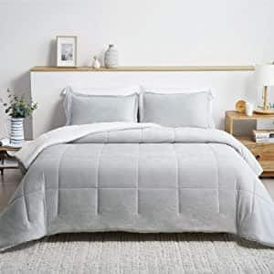 2 Pieces Luxurious Micromink Sherpa Twin Comforter Set $24.40 + Free Shipping