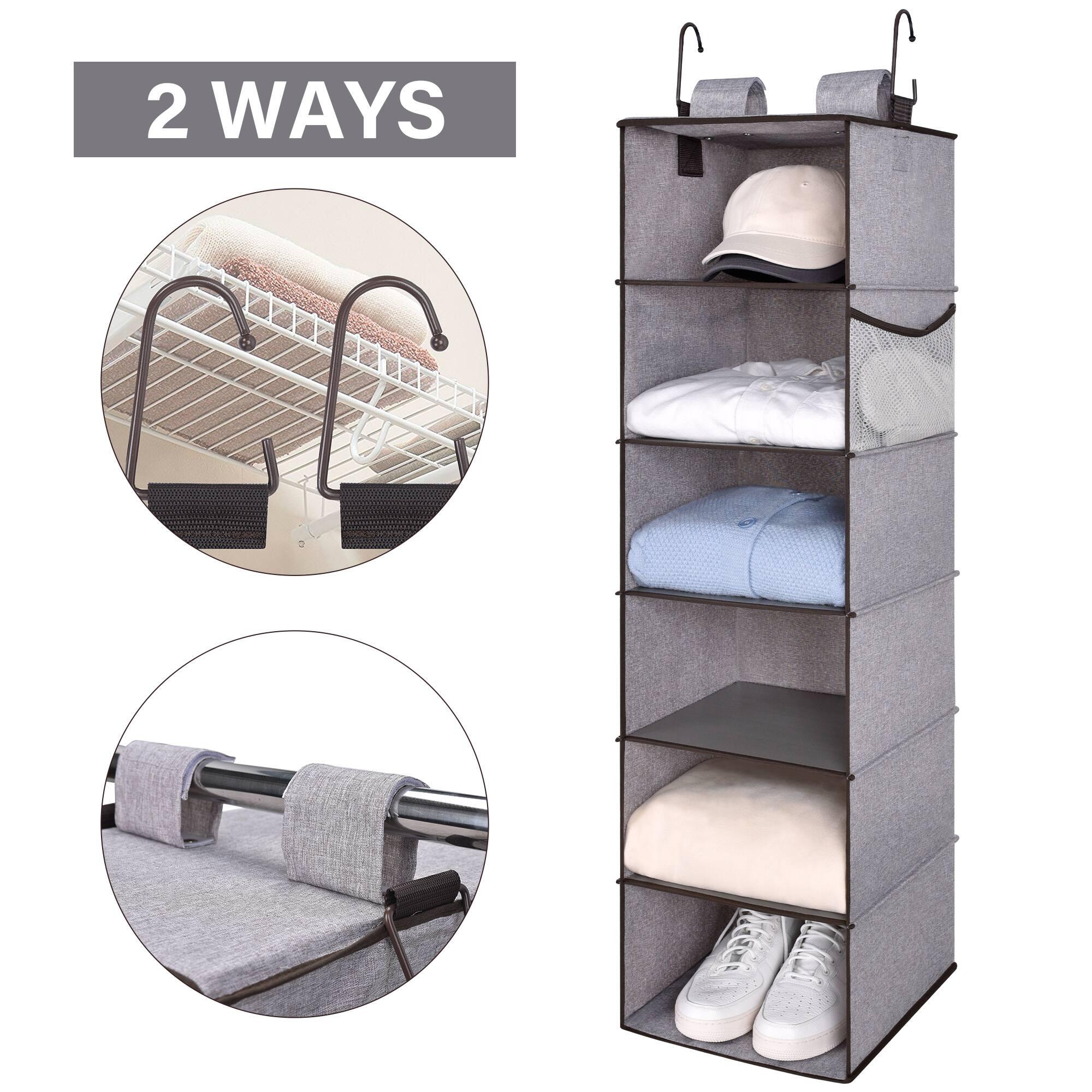 StorageWorks 6-Shelf Hanging Closet Organizer  $11.69 + Free Shipping