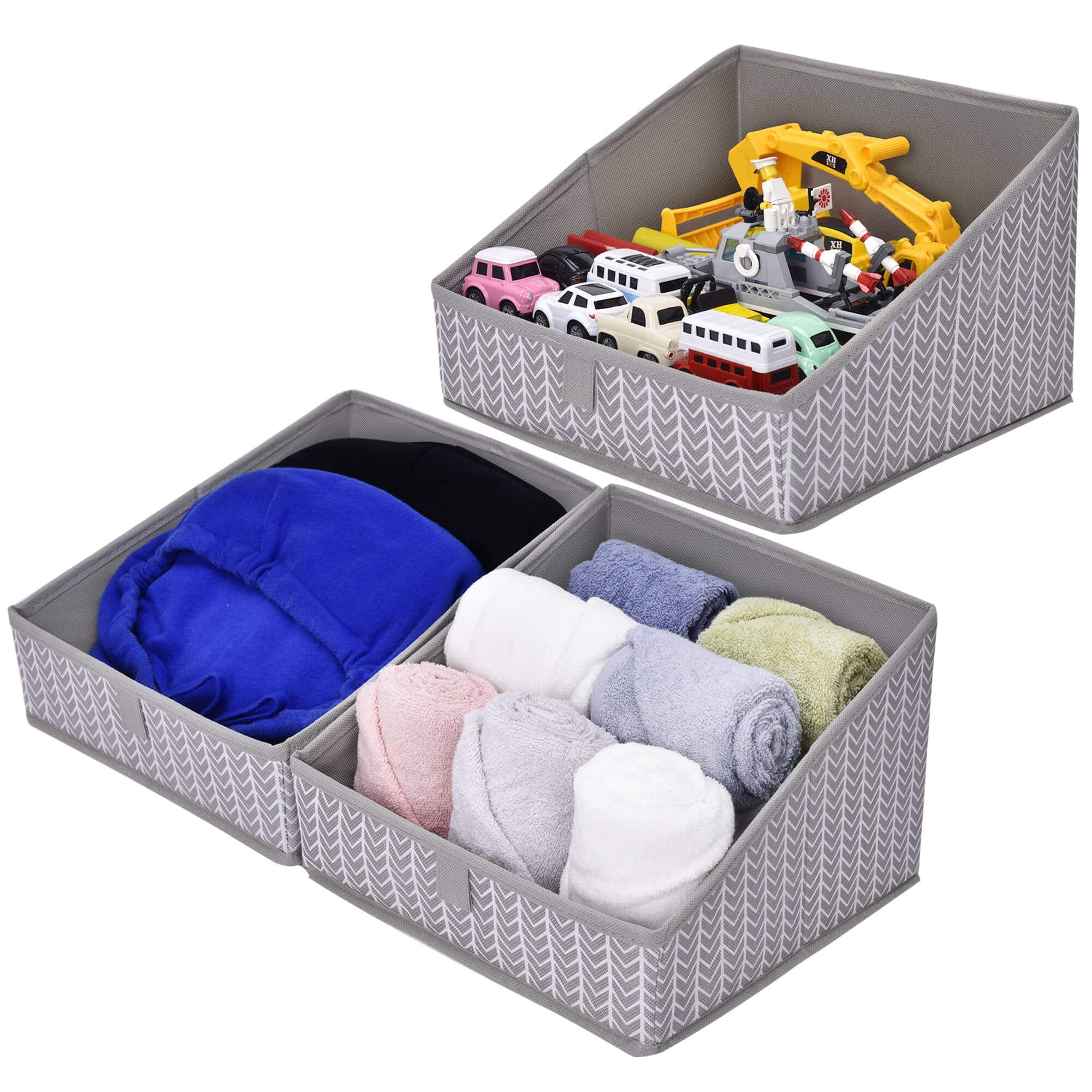 Trapezoid Storage Bins,3-Pack,$9.89 + Free Shipping w/ Amazon Prime or Orders $25+