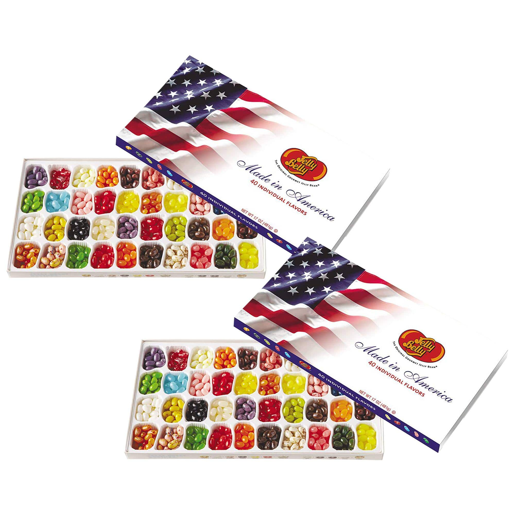 2-Pack: Jelly Belly 40-Flavor Patriotic Gift Box $19 Shipped
