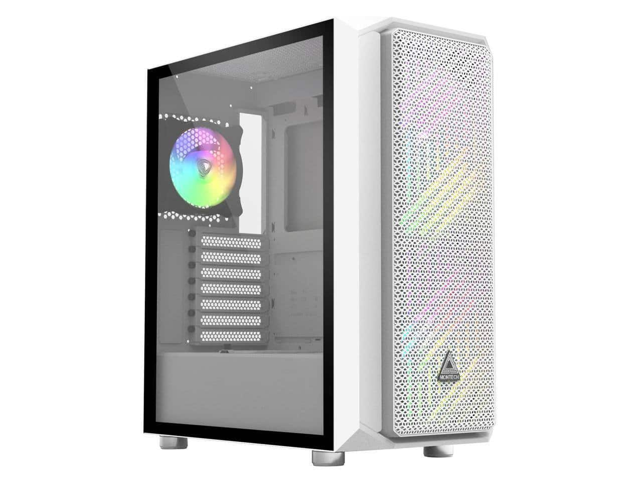 Montech Air X ARGB White ATX Mid-Tower Gaming Case [200mm ARGB Fans*2 & 120mm ARGB Fan*1 & Fan Controller Pre-Installed] for $59.99 + Free Shipping