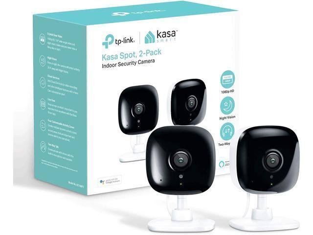 TP-Link Kasa Smart (KC100P2) Spot Indoor Camera 2-Pack $38 + Free Shipping