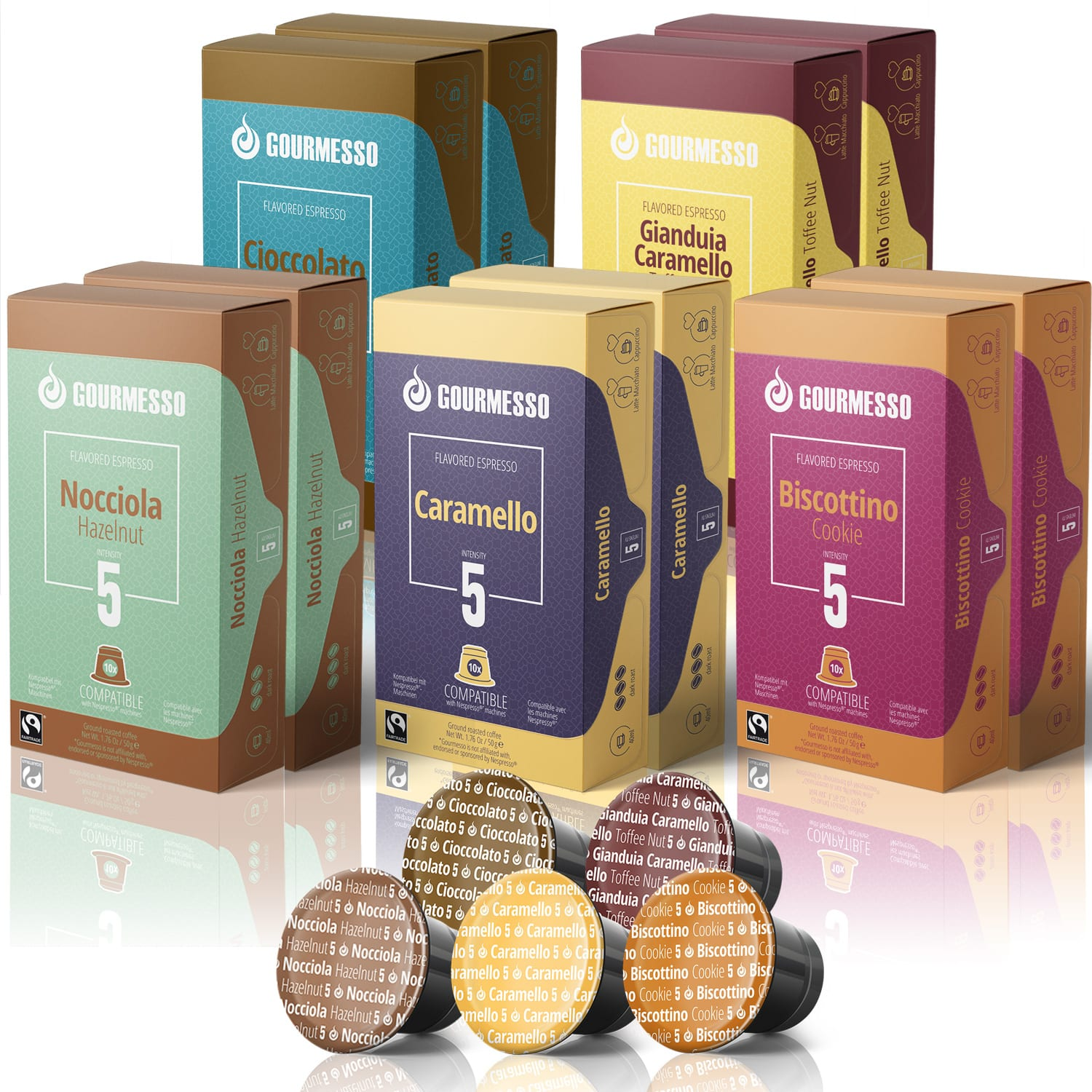 Gourmesso 130 Coffee Capsules Flavor Pods Bundle - $40 + Free Shipping