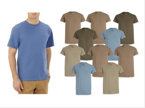 Fruit of the Loom Men's 10 pack Pocket Tees - $20.99 + Amazon Prime Free Shipping