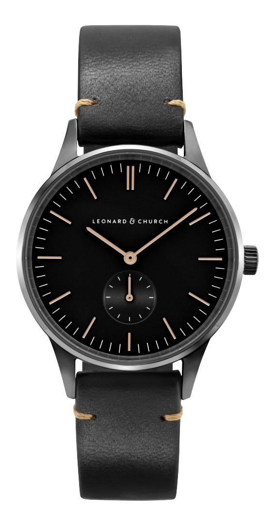 Leonard and Church: Minimalist Timepiece with Sapphire Crystal Lens for $90.68 + Free Shipping
