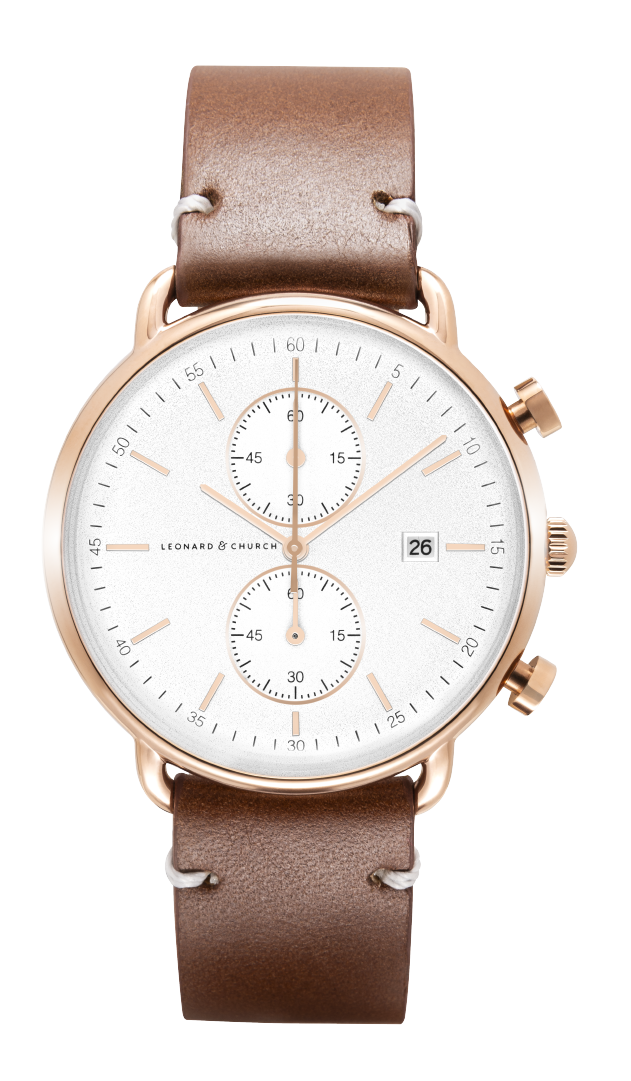 Leonard and Church: Retro Inspired Chronograph Watch for $114.08 + Free Shipping