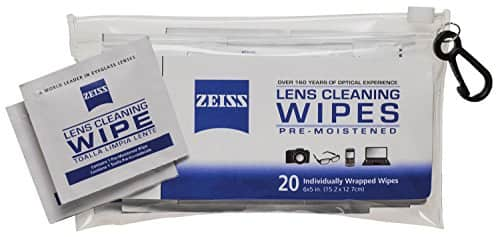80% off Zeiss Portable Lens / Device Screen Wipes Pouch (20 Count) - $1.39