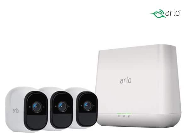 Arlo Pro 3-Cam Wireless System Rechargeable Battery Powered for $229.99 @ Newegg.com