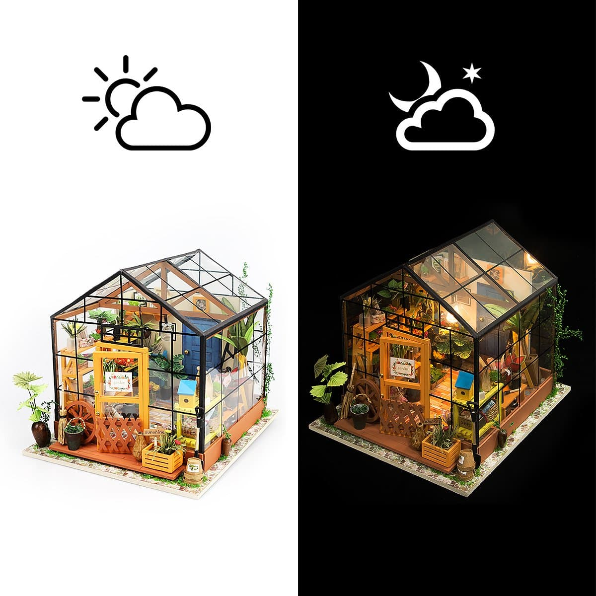 Robotime DIY Dollhouse Wooden Mini House Kit from $24.49 + Free Shipping