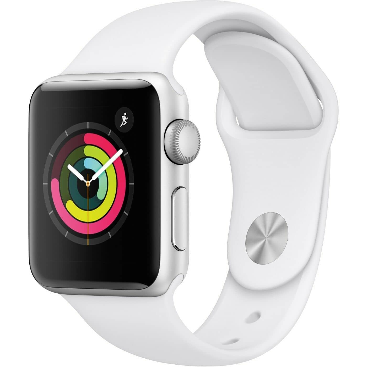 Apple Watch Series 3 38mm Silver Aluminum - White Sport Band (Refurbished) - $152 + Free Shipping