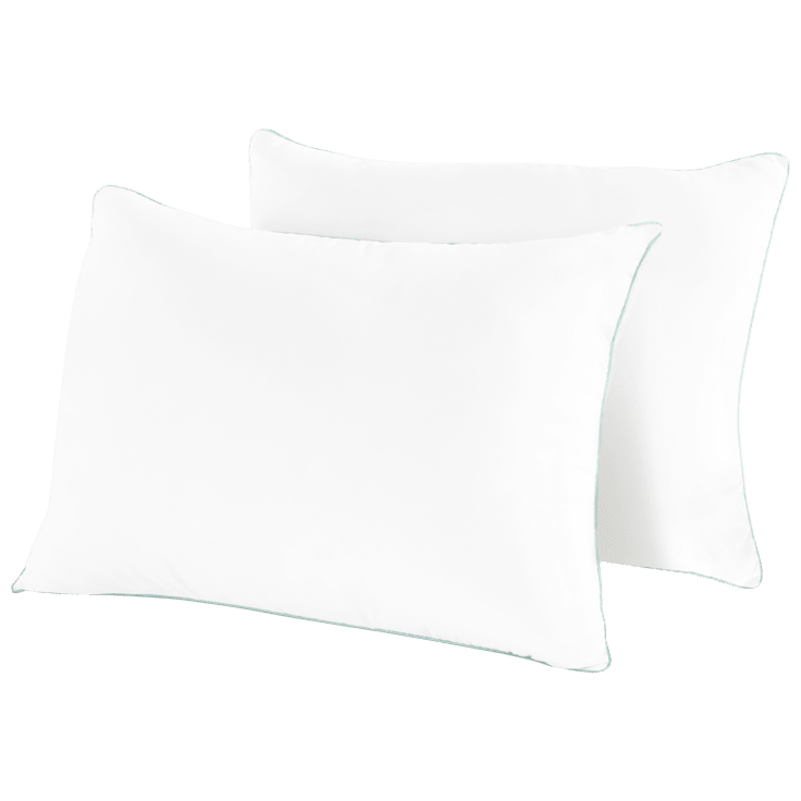 2-Pack: Coastal Comfort Zero-Shift Plush Gel Pillows (Queen Size) $29