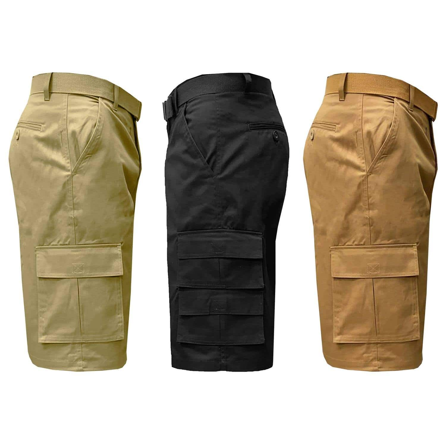 3-Pack of Men's Belted Cargo Shorts $29.74 + Free Shipping
