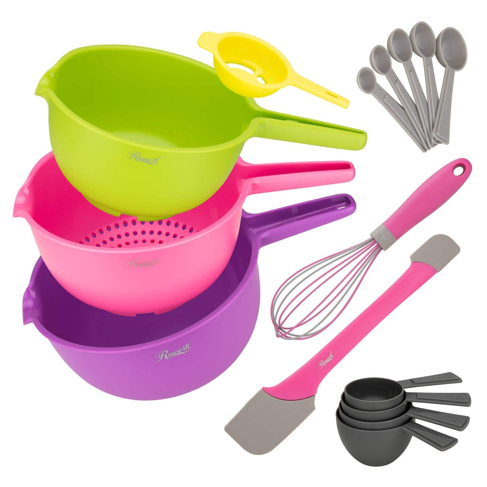 Rosewill 15 Pc Mixing and Baking bowl set w/ Accessories $16.19 + Free Shipping
