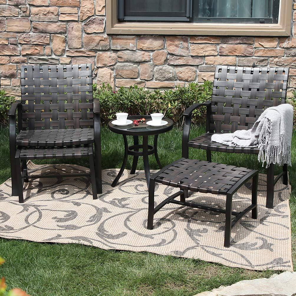 5-Piece Patio Set with Ottomans and Table $254.99 + Free Shipping