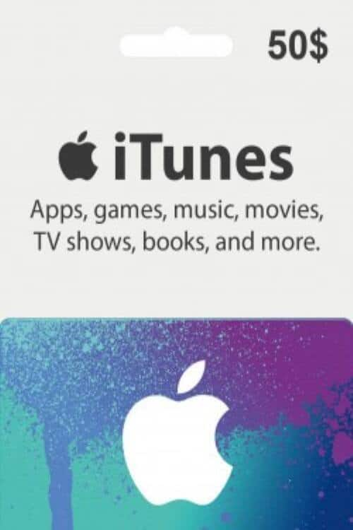 $50 Apple iTunes Gift Card for $46.99