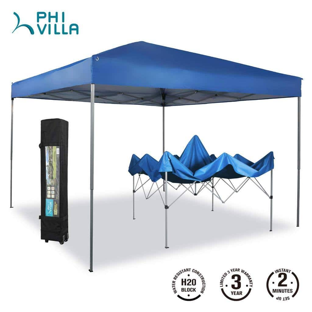 Phi Villa 10 x 10ft Pop Up Canopy Event Tent, 100 Sq. Ft of Shade $68.99 + Free Delivery