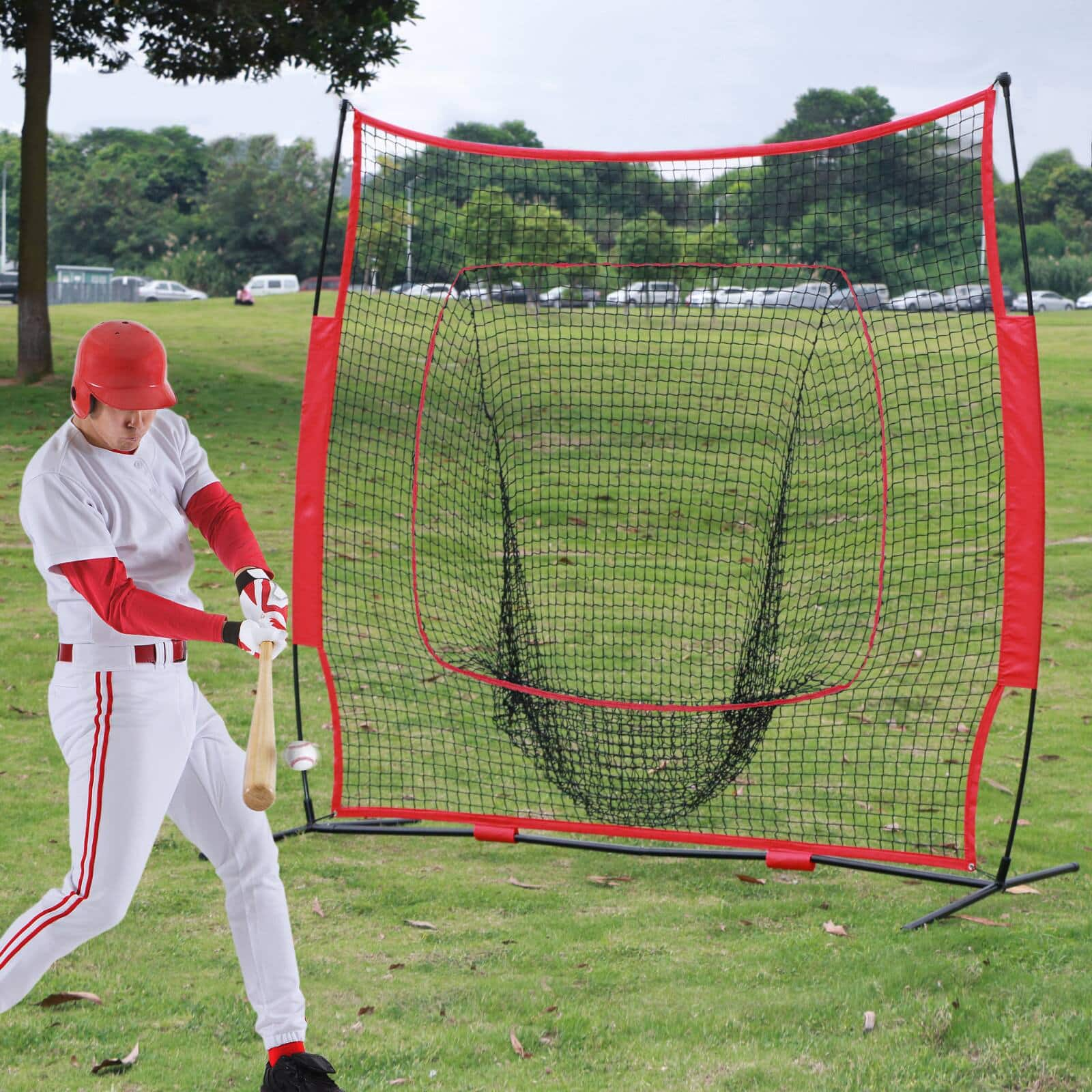 Yaheetech Portable 7' x 7' Baseball and Softball Practice Net $29.40 + Free shipping