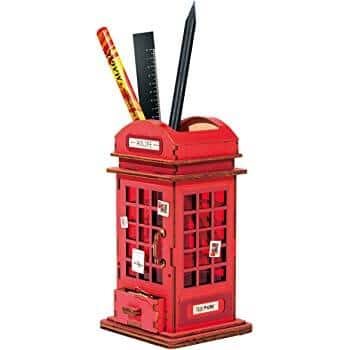 RoboTime Mini Wooden Phone Booth Pen Holder Craft Kit & More Styles $8.99 +  Free Shipping