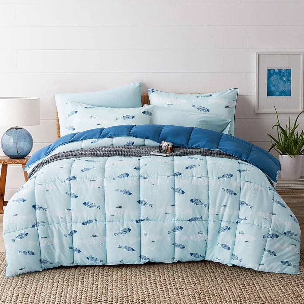 Puredown All Seasons Printed Down Alternative Comforter Set (Various Sizes) from $23.99 - $29.99 + Free Shipping