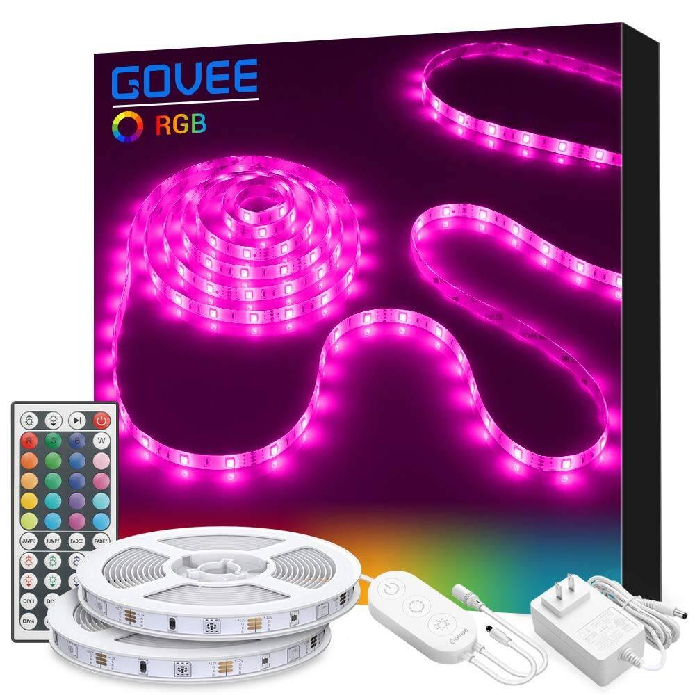 Govee 32.8ft RGB LED Strip Lights w/ 44-Key IR Remote $19.99 + Free Shipping