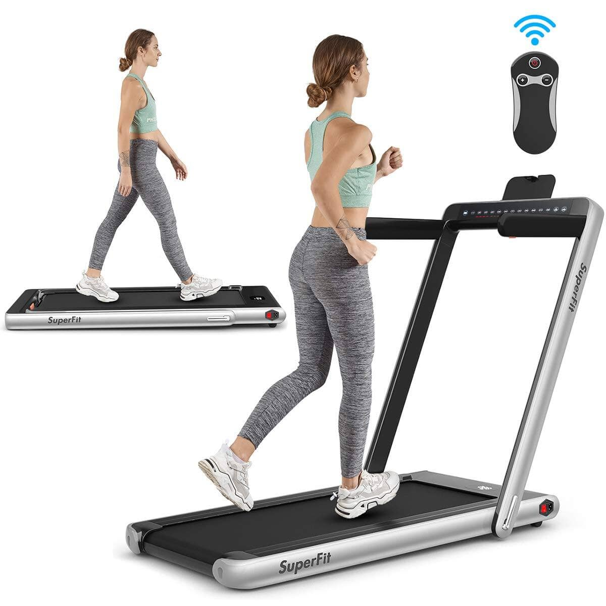 Goplus 2 in 1 Folding Treadmill with Dual Display $469.99 + Free Shipping